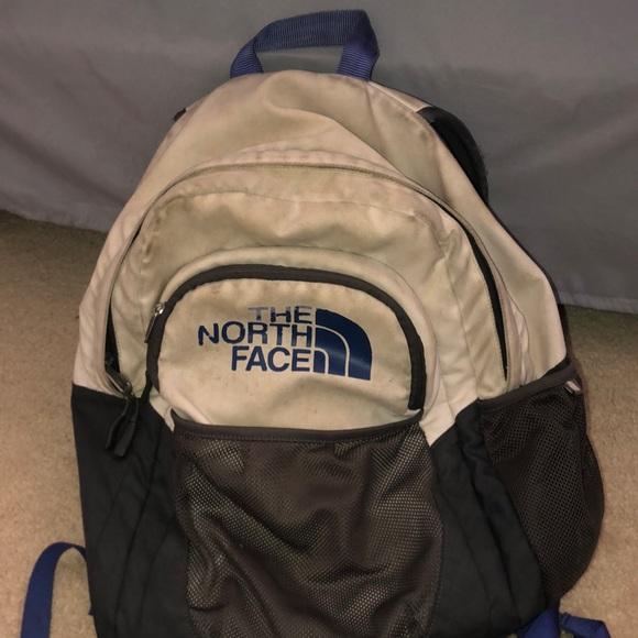 c124d0157 Cream/purple Northface Backpack